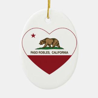 corazón de los robles del paso de la bandera de Ca Ornamento Para Arbol De Navidad