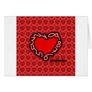 Corazón de números para enamorados tarjeta