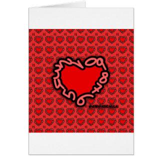 Corazón de números para enamorados tarjeta de felicitación