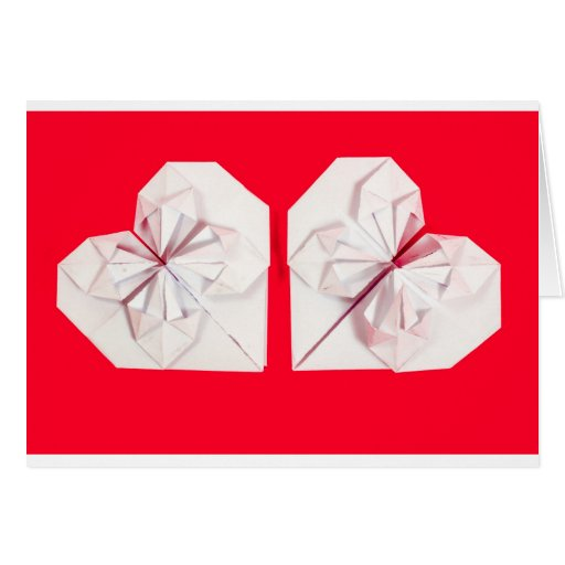 Corazón de Origami Felicitación