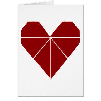 Corazón de Origami Tarjeta De Felicitación