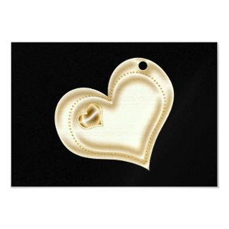 Corazón de oro del libro de recuerdos invitación 8,9 x 12,7 cm