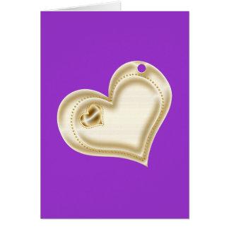 Corazón de oro del libro de recuerdos tarjeta