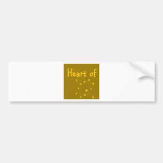 corazón de oro pegatina para coche