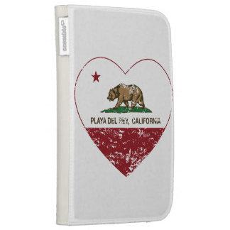corazón de Playa del Rey de la bandera de Californ