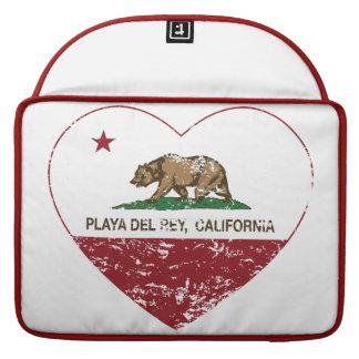 corazón de Playa del Rey de la bandera de Californ Fundas Macbook Pro