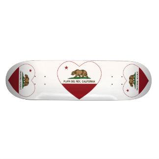 corazón de Playa del Rey de la bandera de Californ Monopatin Personalizado