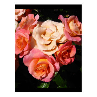 Corazón de rosas * amor * boda postal