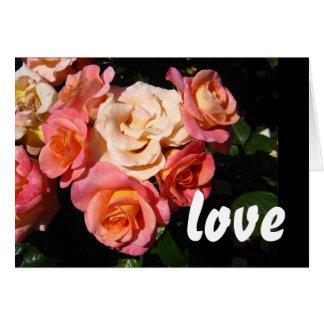 Corazón de rosas * amor * boda tarjeta de felicitación