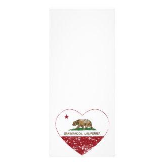 corazón de San Marcos de la bandera de California  Anuncio Personalizado