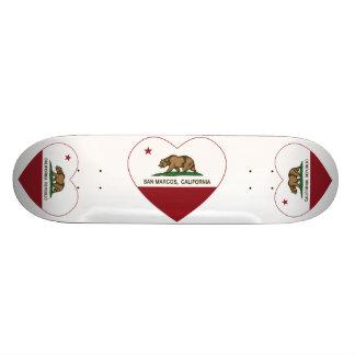 corazón de San Marcos de la bandera de California Monopatín Personalizado