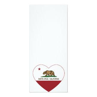 corazón de Santa Cruz de la bandera de California Comunicado Personalizado