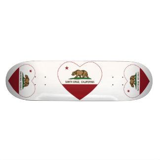 corazón de Santa Cruz de la bandera de California Patines Personalizados