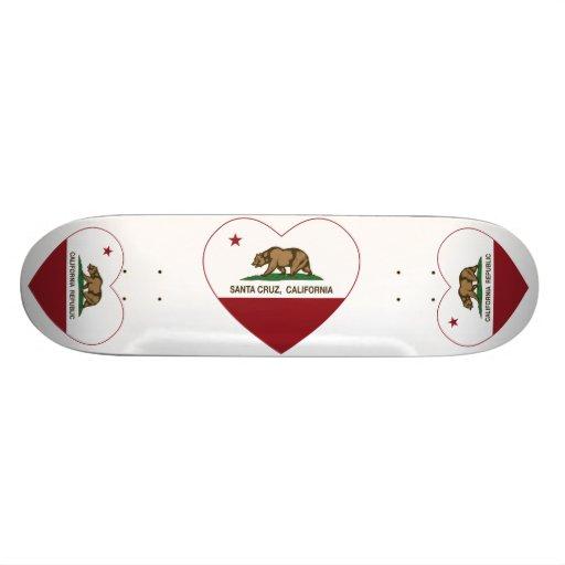 corazón de Santa Cruz de la bandera de California Patines