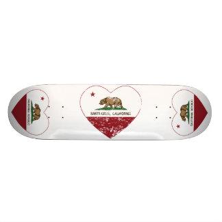 corazón de Santa Cruz de la bandera de California Monopatín Personalizado