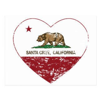 corazón de Santa Cruz de la bandera de California Postal