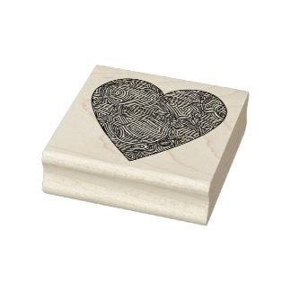 Corazón de Scribbleprints Sello De Caucho