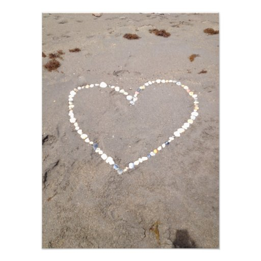 Corazón de Shell de la playa Fotografías