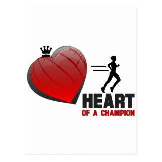 Corazón de un funcionamiento del campeón postal