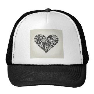 Corazón de una parte de un cuerpo gorras