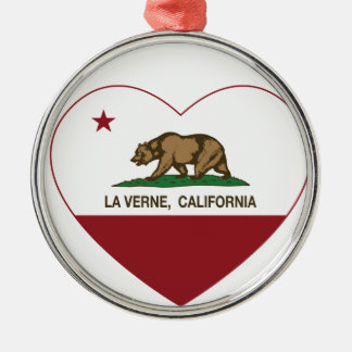corazón de verne del la de la bandera de Californi Ornamentos De Reyes Magos