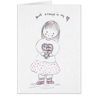 Corazón del abuelo tarjeta de felicitación