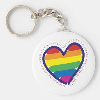 Corazón del alcohol del orgullo gay llavero redondo tipo chapa