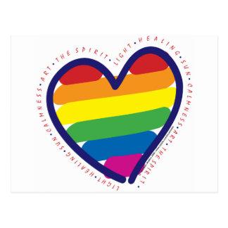 Corazón del alcohol del orgullo gay postal