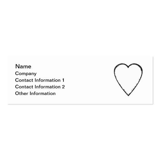 Corazón del amor con el borde del garabato tarjeta personal