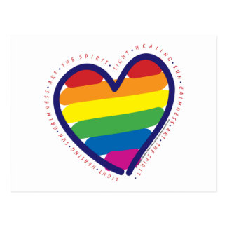 Corazón del amor del orgullo gay tarjetas postales