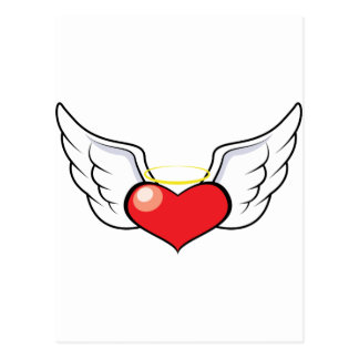 Corazón del ángel postal