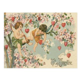 Corazón del árbol de la magnolia de la flauta del postal