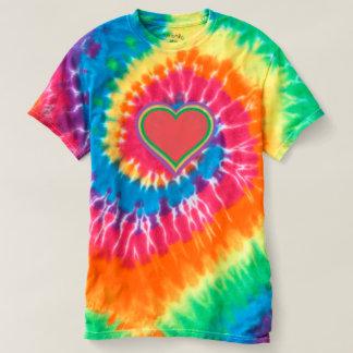 Corazón del arco iris - camiseta espiral del