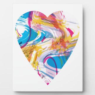 Corazón del arte de la interferencia placa expositora
