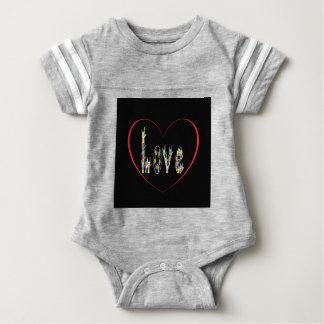 Corazón del ASL por completo del amor Body Para Bebé