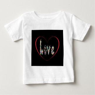 Corazón del ASL por completo del amor Camiseta De Bebé