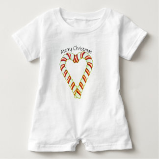 Corazón del bastón de caramelo body para bebé