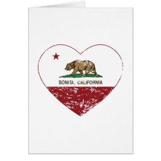corazón del bonita de la bandera de California ape Felicitación