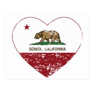corazón del bonita de la bandera de California ape Postal