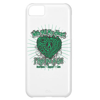 Corazón del cáncer de hígado que lucho como un chi funda para iPhone 5C