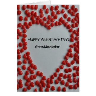 corazón del caramelo de la tarjeta del día de San