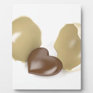 Corazón del chocolate placa expositora