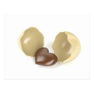 Corazón del chocolate postal