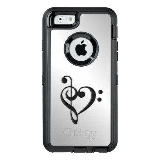 Corazón del Clef de la música apenado Funda OtterBox Defender Para iPhone 6