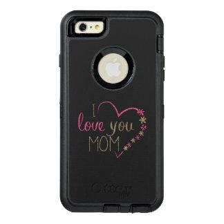 Corazón del día de madres de la mamá del amor funda OtterBox defender para iPhone 6 plus