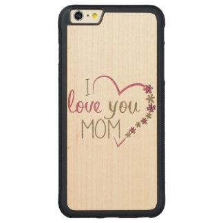 Corazón del día de madres de la mamá del amor funda protectora de arce para iPhone 6 plus de car