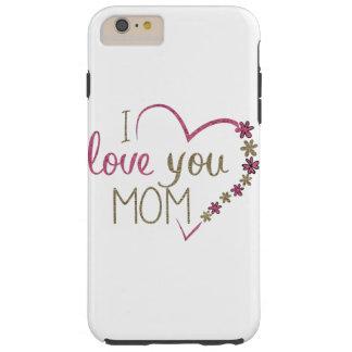 Corazón del día de madres de la mamá del amor funda resistente iPhone 6 plus