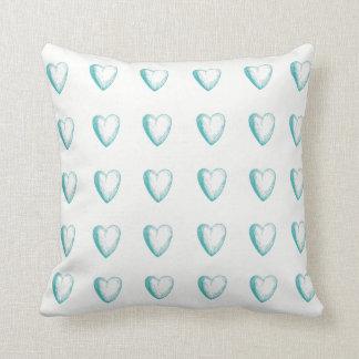 Corazón del Doodle del trullo y almohada de tiro