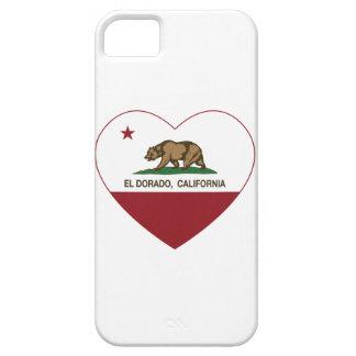 corazón del dorado del EL de la bandera de Califor iPhone 5 Coberturas