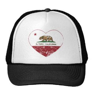 corazón del EL Toro de la bandera de California ap Gorros